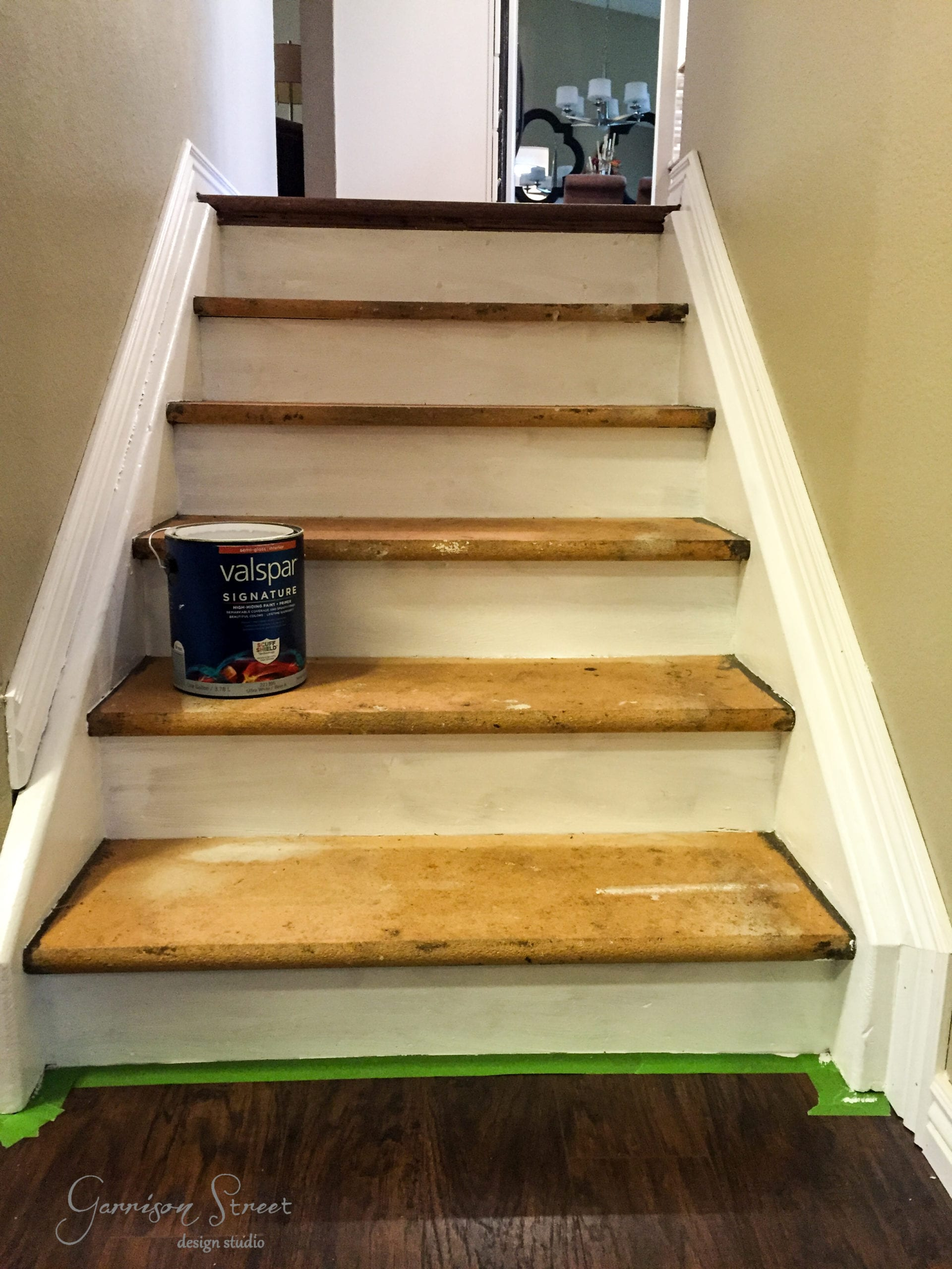 Carpet to Wood Stair Makeover