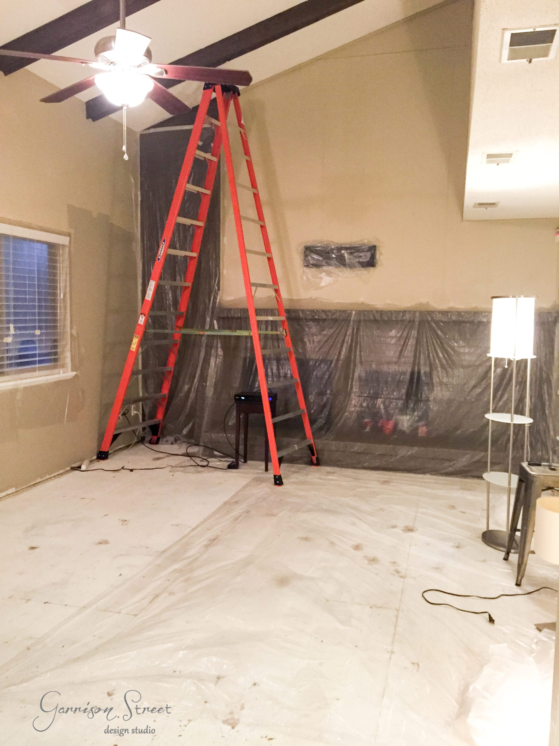 Family Room - Popcorn Ceiling Removal