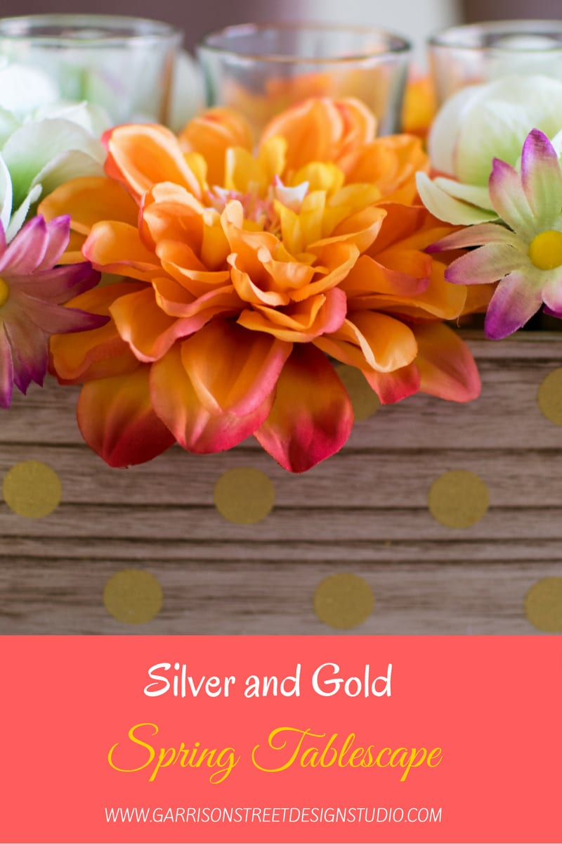 Silver and Gold Spring Tablescape
