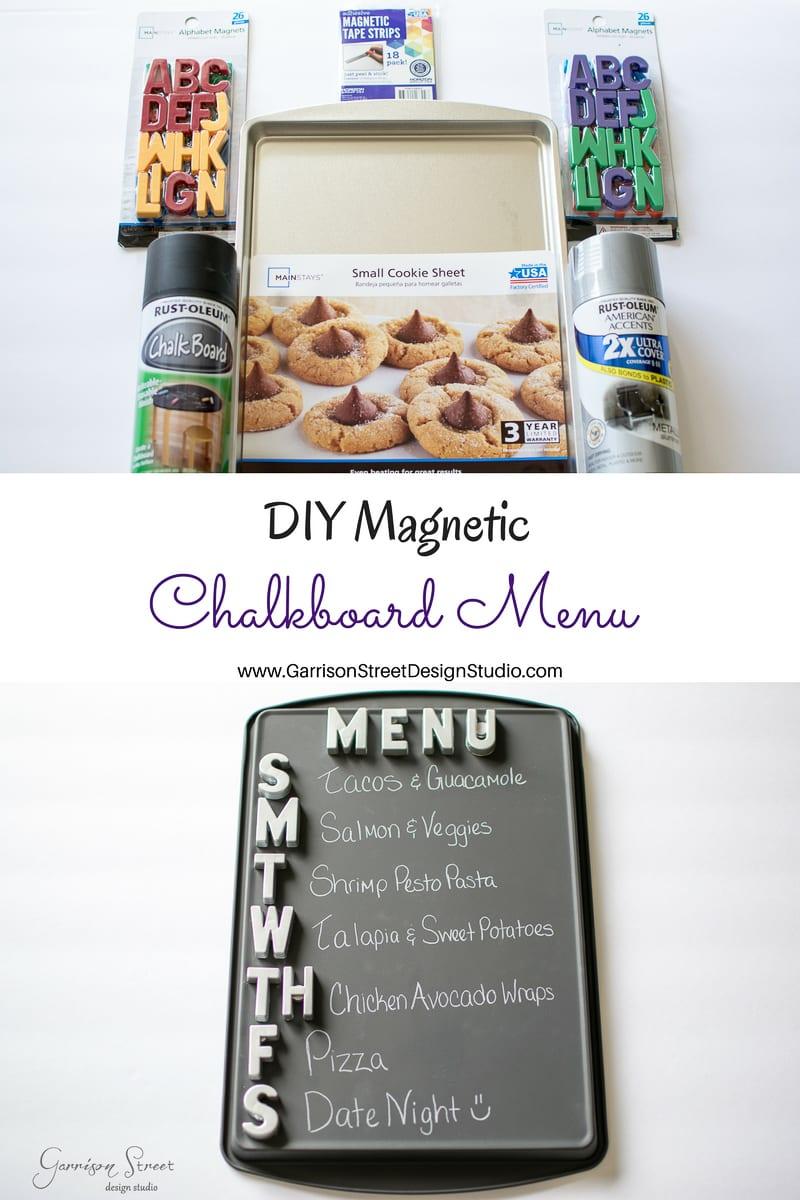 DIY Magnetic Chalkboard Menu