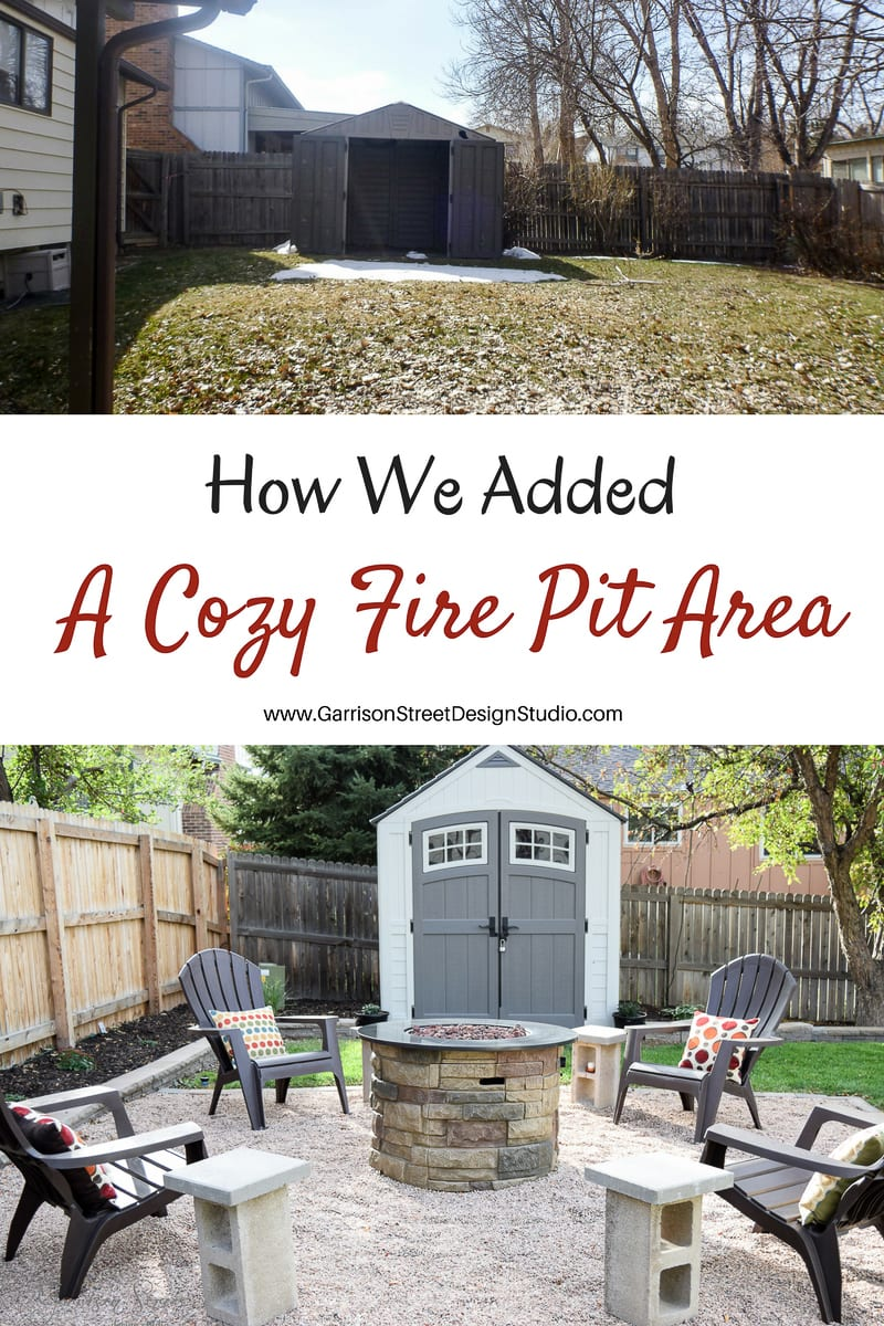 Adding a Fire Pit Area