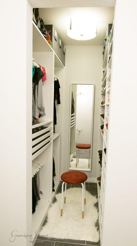 Small Walk-In Closet PAX Big Storage