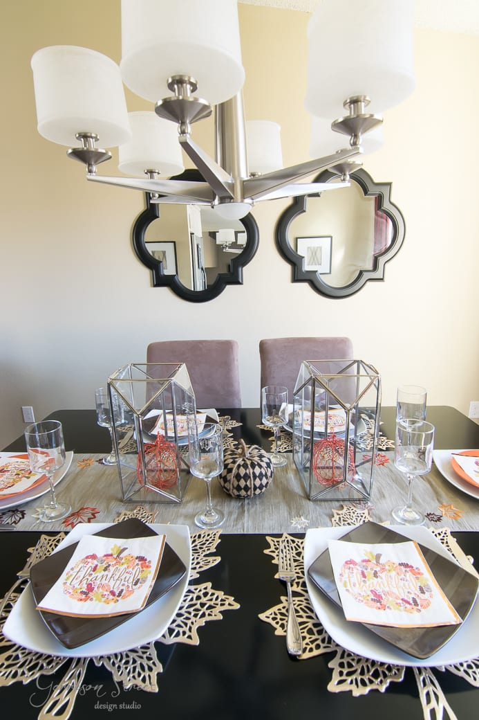 Easy Last Minute Thanksgiving Tablescape