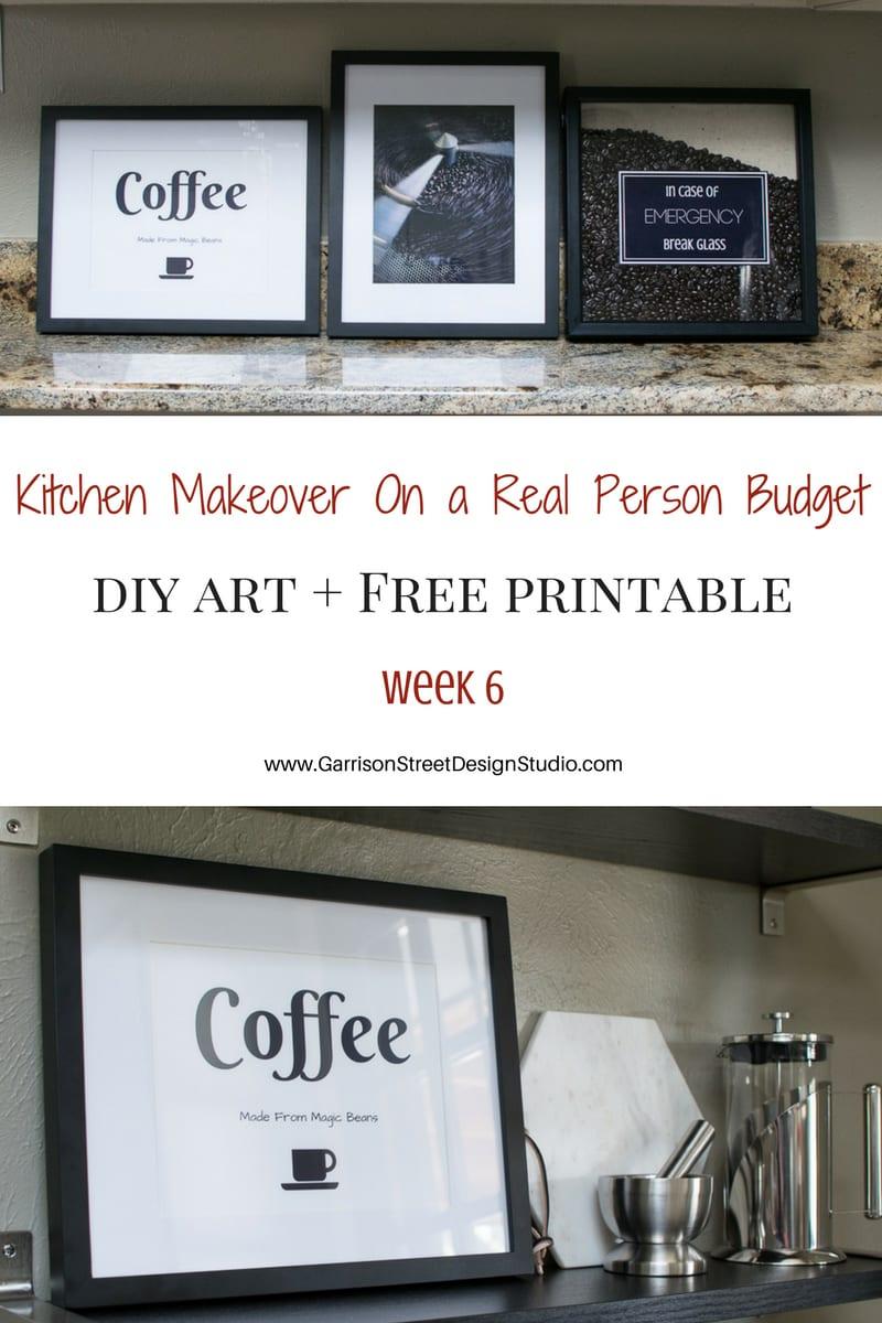 Kitchen Makeover - DIY Art & Free Printable