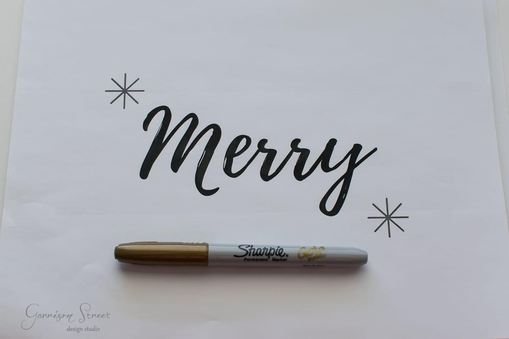 DIY Christmas Wall Art + Free Printable