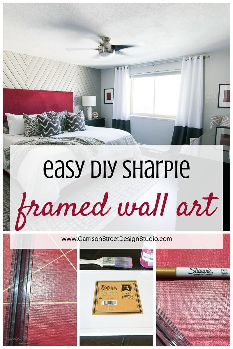 EASY DIY Sharpie Framed Wall Art