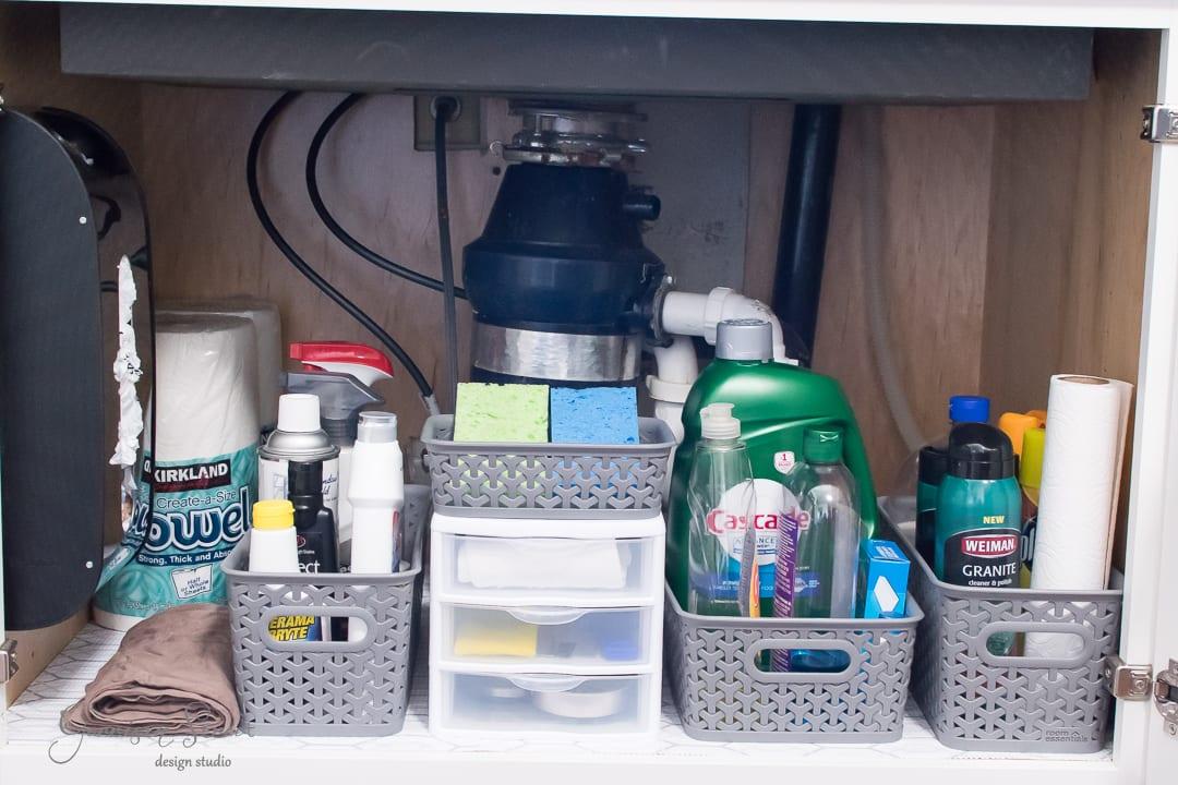 Easy Under The Kitchen Sink Organization
