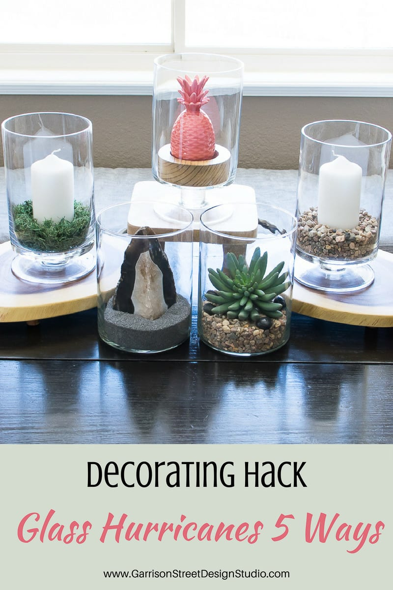 My Favorite Decorating Hack | Glass Hurricanes 5 Ways