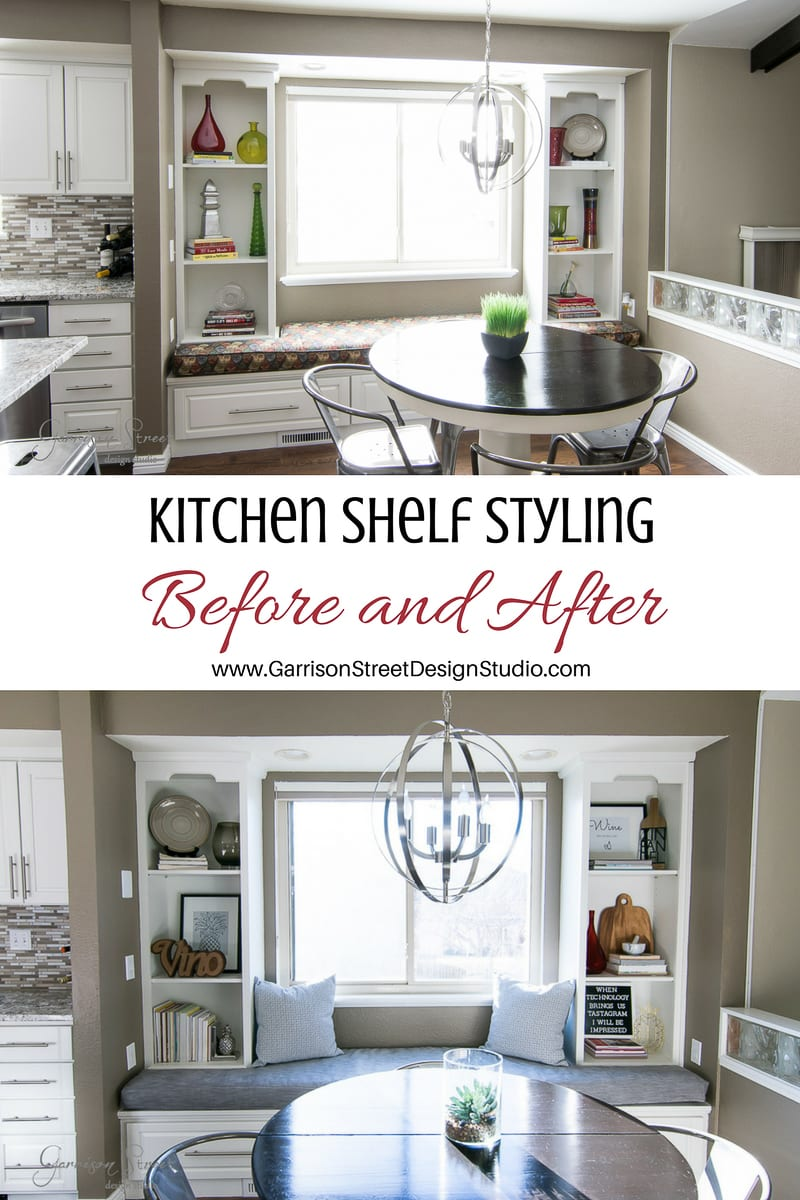 Kitchen Shelf Styling with Free Printable