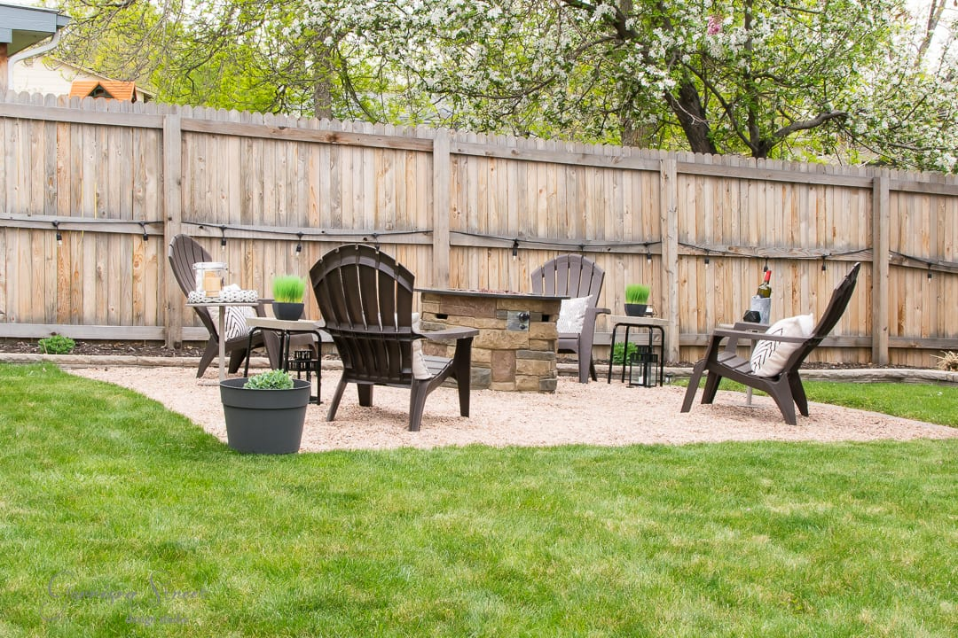 DIY Fire Pit Makeover with Wood Cover