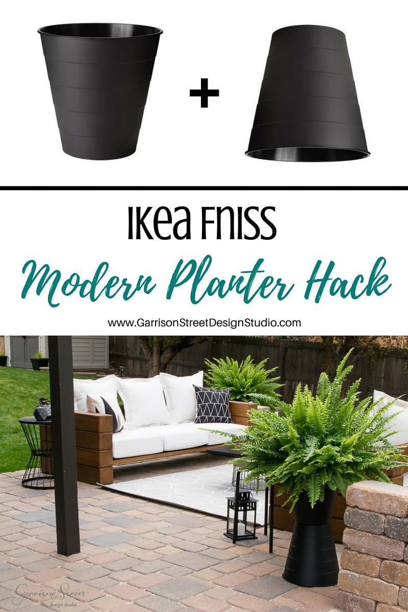 Ikea Fniss Modern Planter Hack