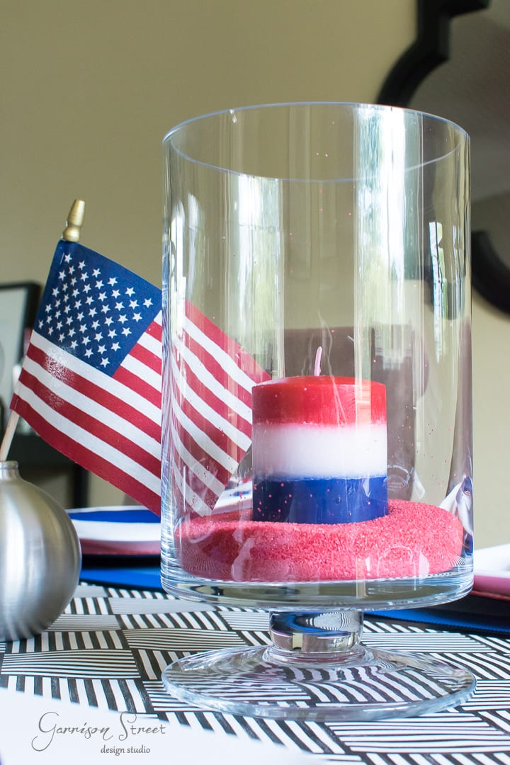 Red, White, and Blue Patriotic Tablescape