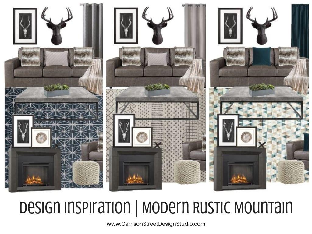 Design Inspiration   Modern Rustic Mountain Living Rooms