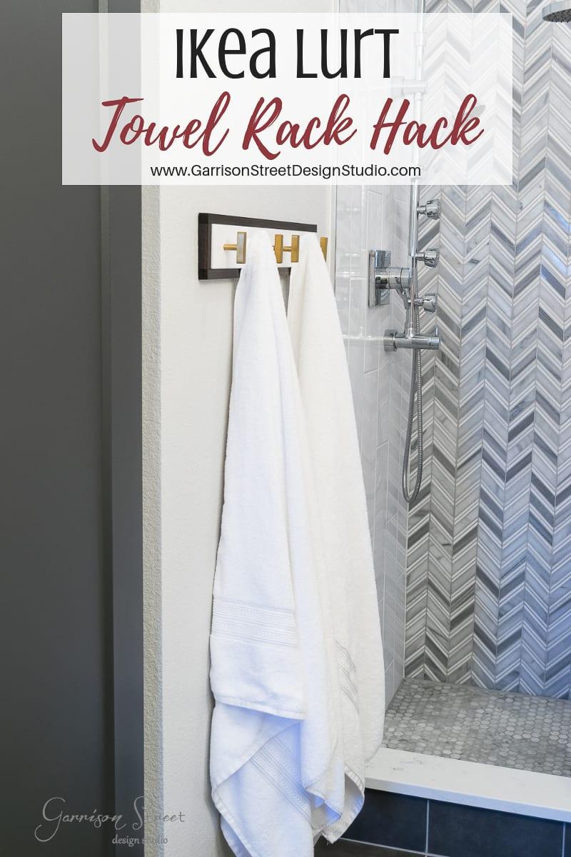 Ikea Lurt Towel Rack Hack