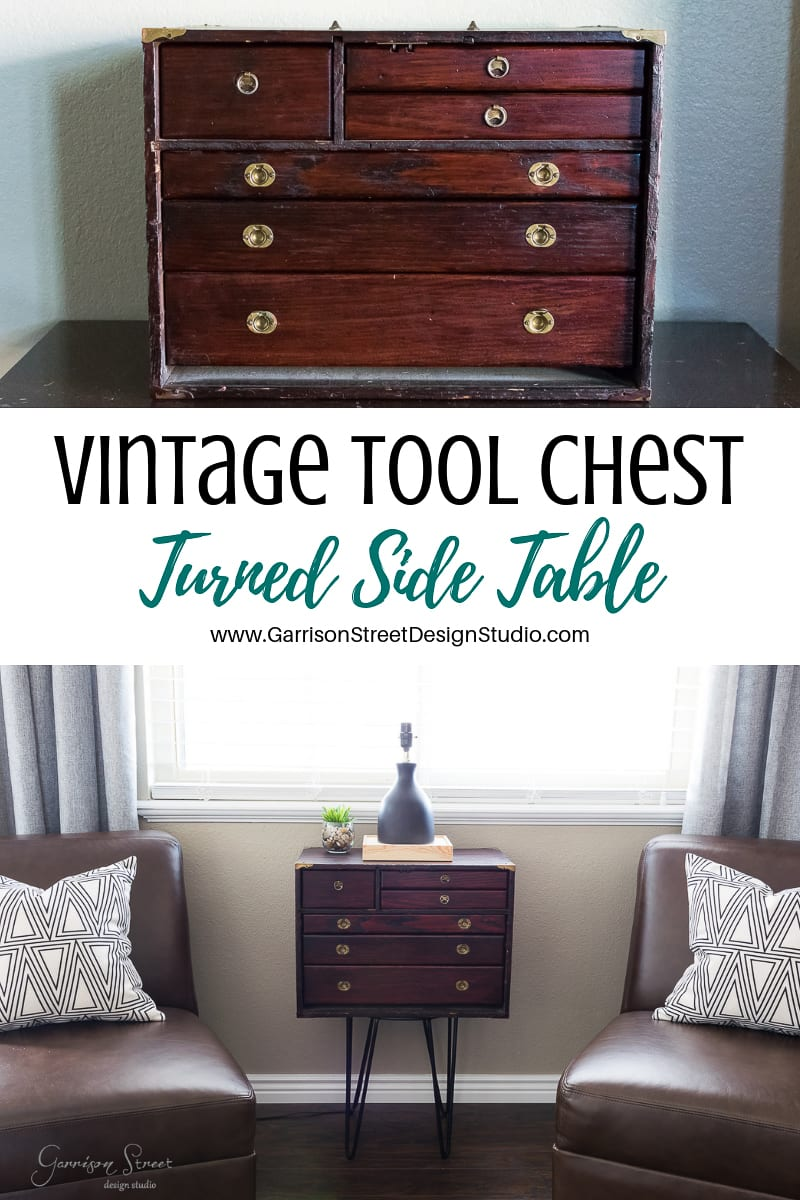 Vintage Tool Chest Turned Side Table