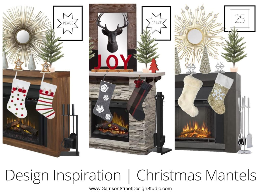 Design Inspiration | Christmas Fireplace Mantels