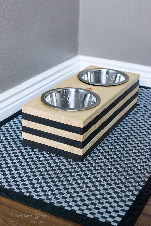 DIY Raised Dog Bowls