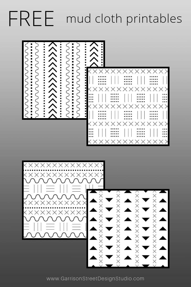 Mud Cloth Inspired Free Printables