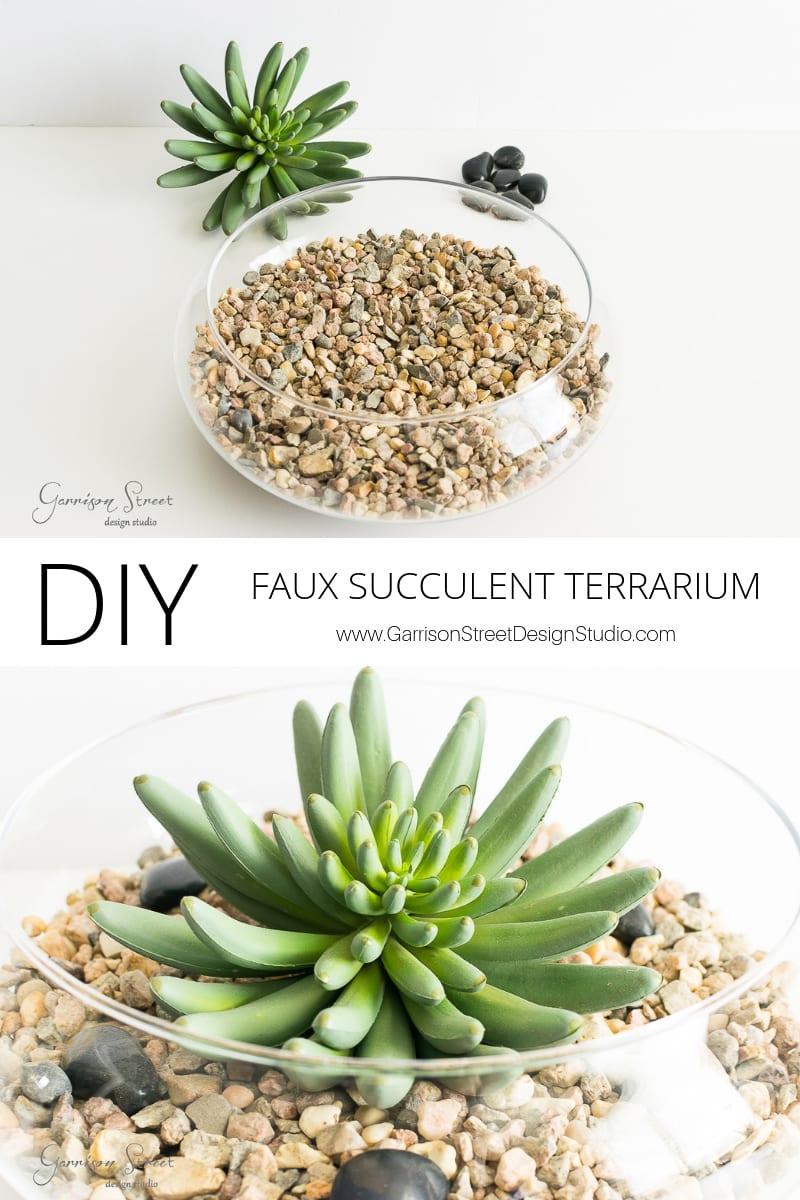 DIY Faux Succulent Terrarium