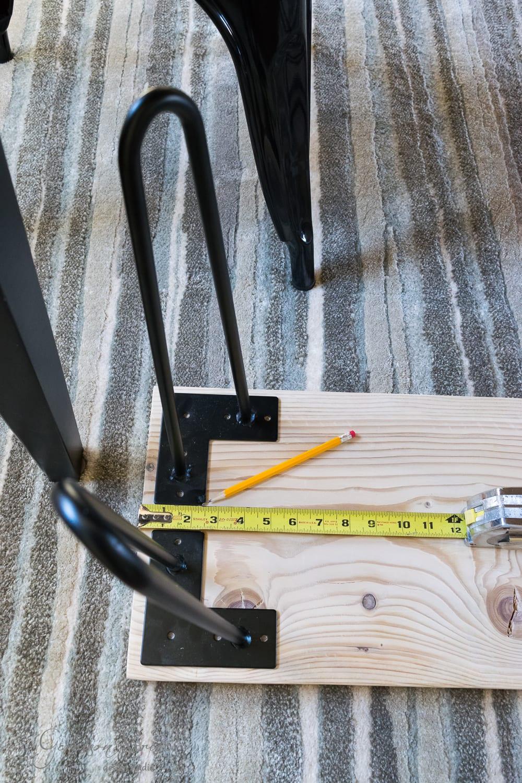 DIY Hairpin Leg Bench