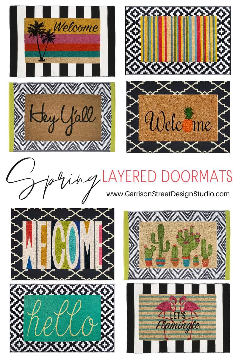 Spring Layered Doormats