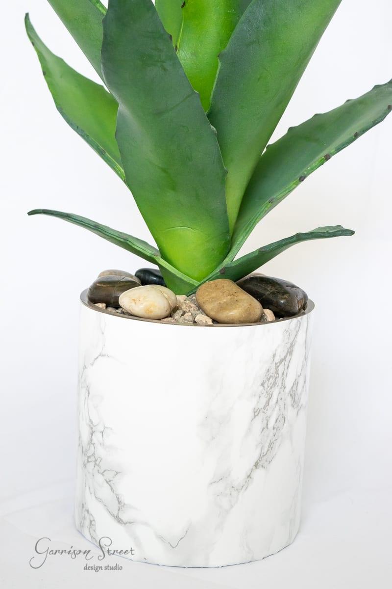 DIY Faux Marble Planter