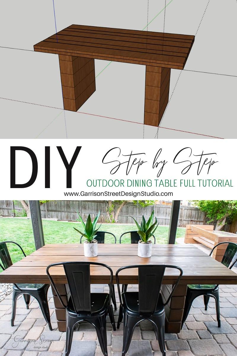 DIY Outdoor Dining Table Full Tutorial