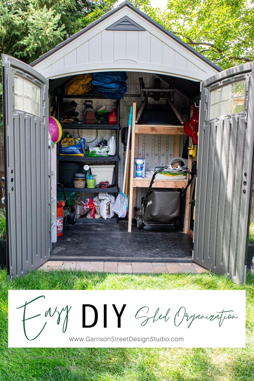 Easy DIY Shed Organization
