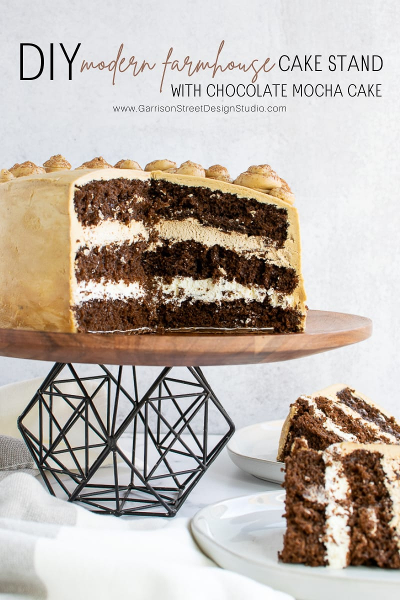 DIY Modern Farmhouse Cake Stand