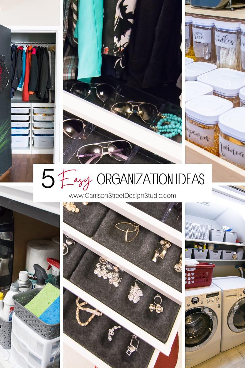 5 Easy Organization Ideas