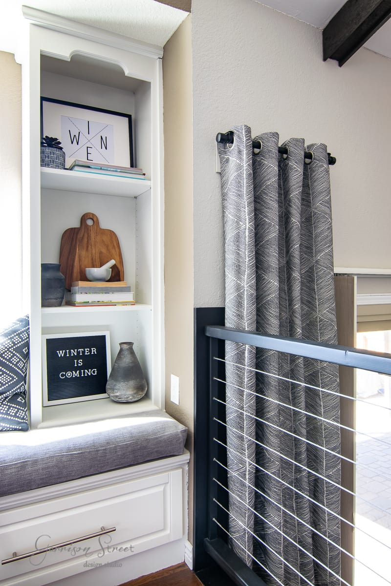 DIY Curtain Rod IKEA Hack
