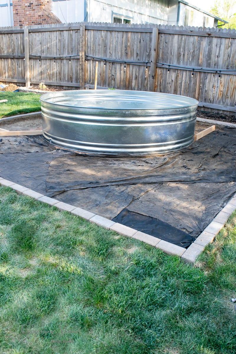 DIY Stock Tank Pool Set Up