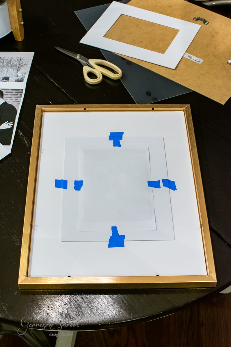 DIY Oversized Picture Frame Mat