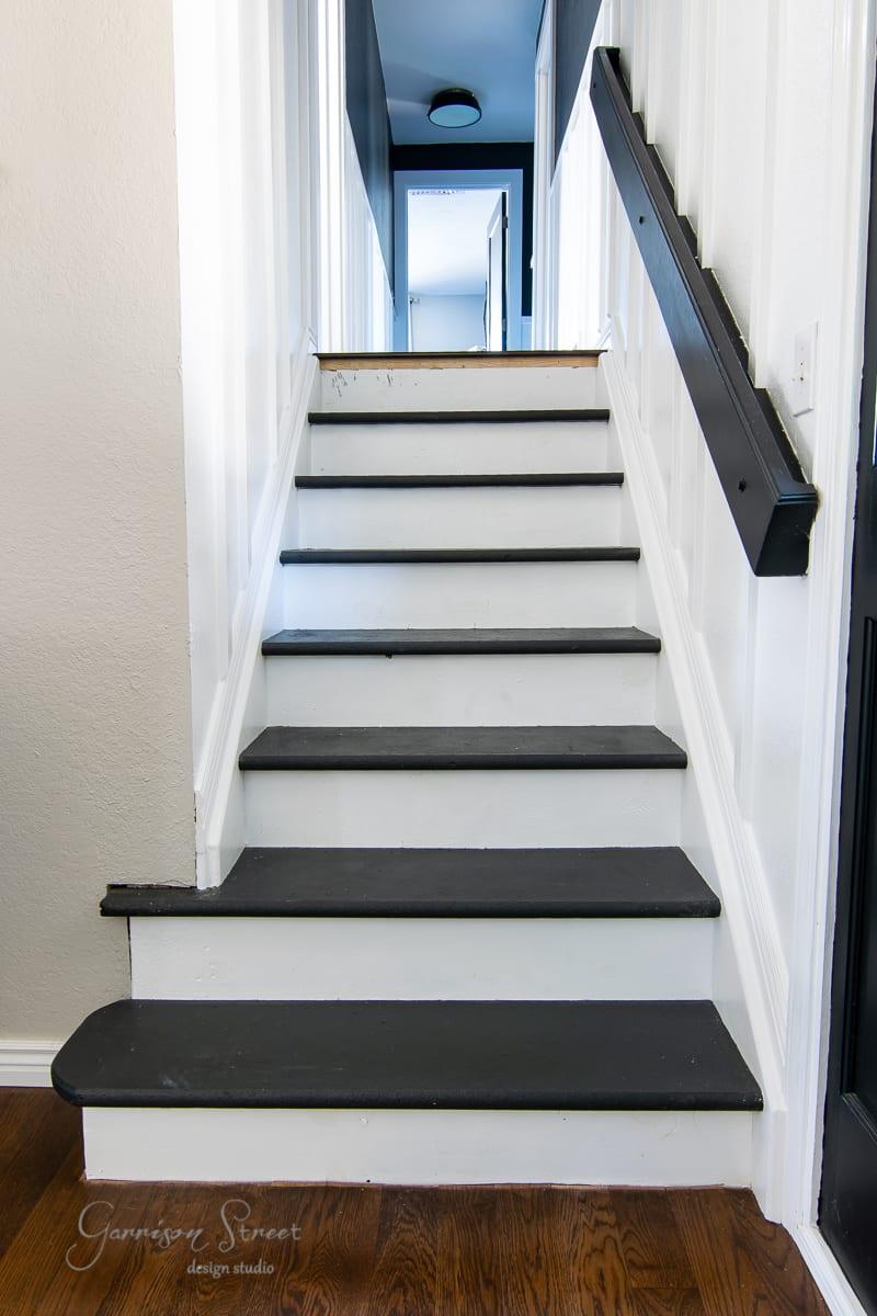 DIY Modern Stair Treads & Risers
