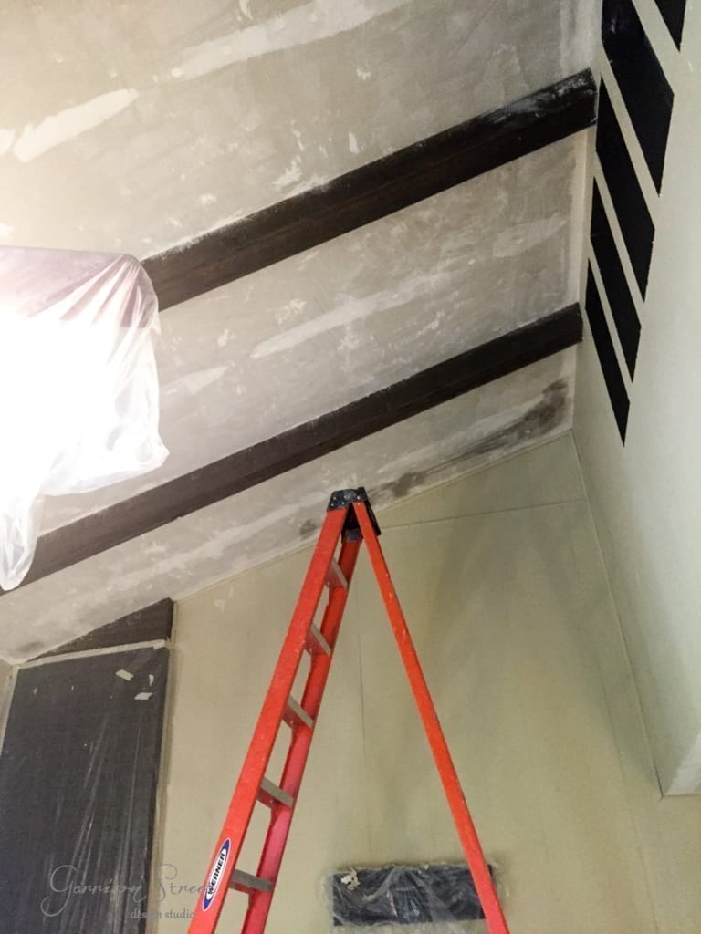 Family Room – Popcorn Ceiling Removal