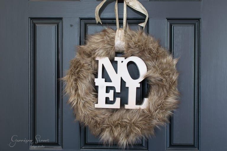 DIY Faux Fur Christmas Wreath