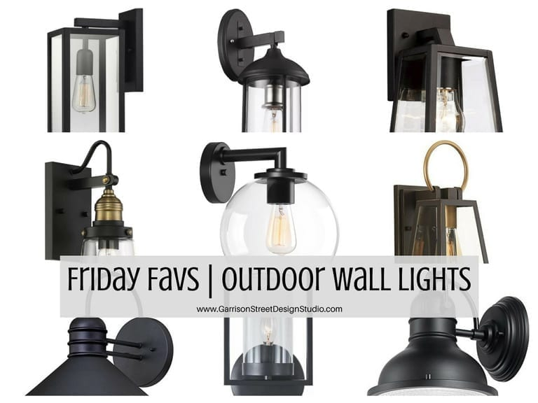 Friday Favs | Outdoor Wall Lights