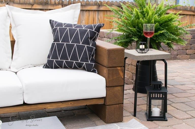Ikea Marius Stool Outdoor Side Table Hack