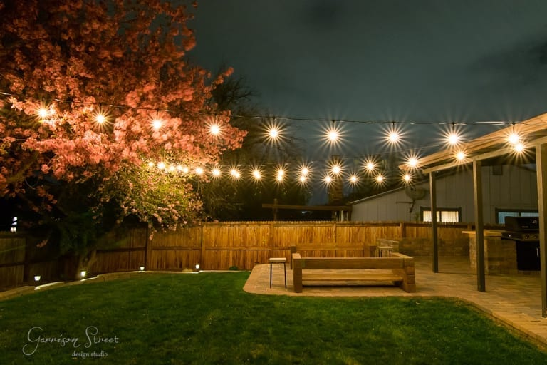 String Lights, Electrical, and a Chandelier