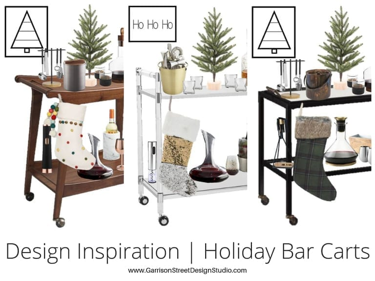 Design Inspiration | Holiday Bar Carts
