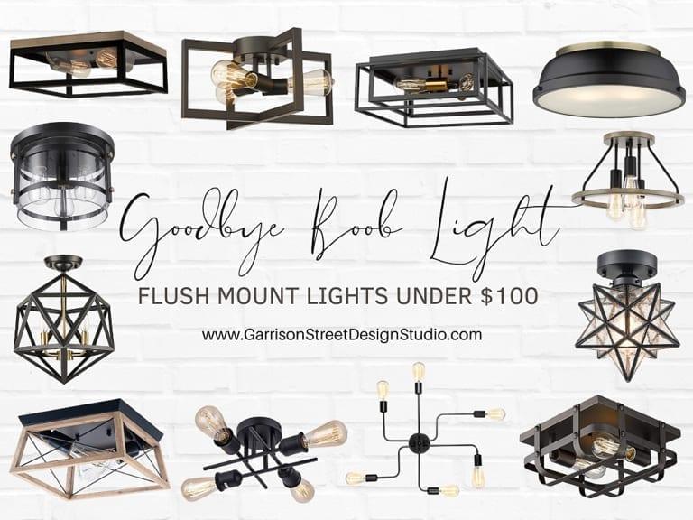 Goodbye Boob Light | Flush Mount Lights Under $100