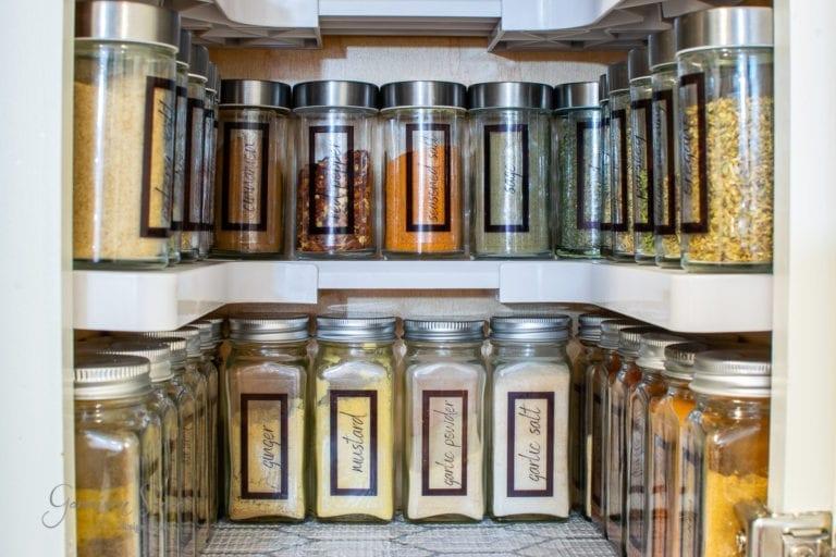 Spice Cabinet Organization