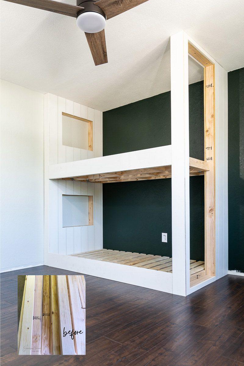 DIY Built in Bunk Beds